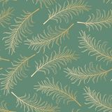 Hand drawn pal leaves tropical elegant seamless pattern. Swatch Stock Photos
