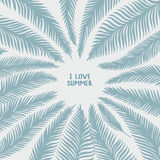 Hand drawn palm leaves. Stock Image