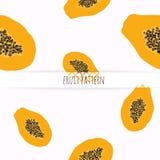 Hand drawn papaya. Royalty Free Stock Image