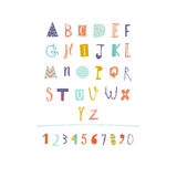 Hand Drawn paper cut out alphabet in vector. Royalty Free Stock Photography