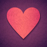 Hand drawn paper heart Royalty Free Stock Images