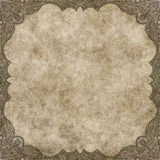 Hand drawn parchment with decorative border Stock Photography