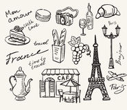 Hand drawn paris Stock Photo