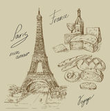 Hand drawn Paris Royalty Free Stock Images