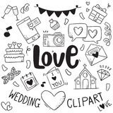 hand drawn party doodles element wedding element background pattern royalty free illustration