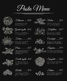 Hand drawn pasta menu Stock Photo