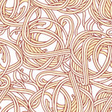 Hand drawn pasta spaghetti seamless pattern. Background for restaurant or food package design Stock Image