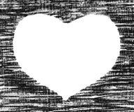 Hand-drawn pastel heart shape Royalty Free Stock Photos