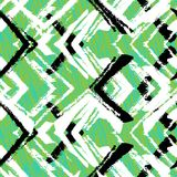 Hand drawn pattern with brushed zigzag line. Stock Photos