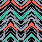 Hand drawn pattern with brushed zigzag line. stock illustration