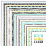Hand Drawn Pattern Brushes Set Royalty Free Stock Photography