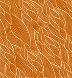 Hand-drawn pattern with waves Stock Photography