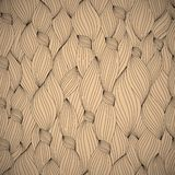 Hand-drawn pattern, waves background Stock Image