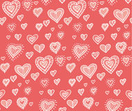Hand drawn pattern woth hearts Royalty Free Stock Photos