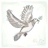 Hand drawn peace dove symbol with texture background EPS10 file. Royalty Free Stock Photos