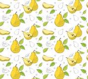 Hand drawn pear seamless pattern. Vector illustration vector illustration