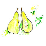 Hand drawn pears Royalty Free Stock Image