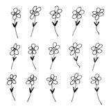 Hand drawn pen and ink style illustration of flowers. Hand drawn pen and ink illustration of flowers on a white background Royalty Free Stock Photography