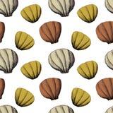 Pencil seamless pattern with shells. Baby print. Scandinavian motives stock photo