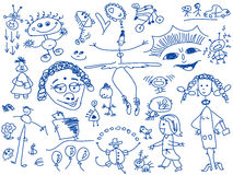 Hand drawn people Royalty Free Stock Photo