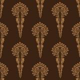Hand drawn persian arabesque ornament damask illustration. Seamless decorative vector illustration