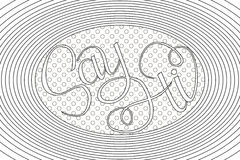Hand drawn phrase Say Hi. Lettering design for posters, t-shirts, cards, invitations, stickers, banners, advertisement. Royalty Free Stock Images