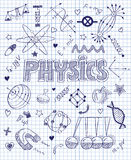 Hand drawn Physics set Stock Photos