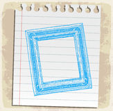 Hand drawn picture frames on paper note, vector illustration Stock Photo