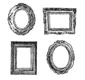 Hand drawn picture frames Royalty Free Stock Photography