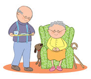 Elderly Living royalty free illustration