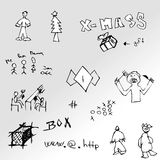 Hand drawn  pictures. Various Royalty Free Stock Photo