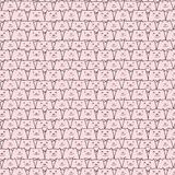 Hand drawn pig vector pattern. Doodle art. Vector Illustration Stock Photos