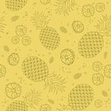 Pineapple seamless pattern Stock Image