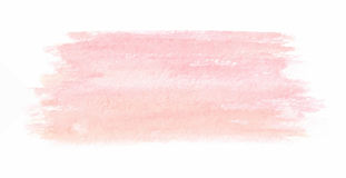 Hand drawn pink watercolor texture. Vector. stock illustration