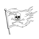 Hand Drawn Pirate Flag Royalty Free Stock Photography