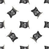 Hand drawn pirate seamless pattern. Vector illustration, EPS 10 royalty free illustration