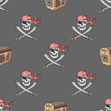 Hand drawn pirate seamless pattern. Vector illustration, EPS 10 vector illustration