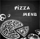 Hand drawn pizza menu Royalty Free Stock Image