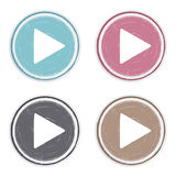 Hand Drawn Play Buttons Royalty Free Stock Photo