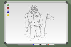 Hand drawn polar explorer Royalty Free Stock Images