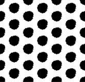 Hand drawn polka dot background with round brush strokes. royalty free stock photos