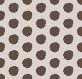 Hand drawn polka dot background with round brush strokes. royalty free stock image