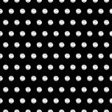 Hand Drawn Polka Dot Seamless Pattern Stock Image