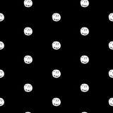 Hand Drawn Polka Dot Seamless Pattern Stock Images