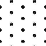 Hand Drawn Polka Dot Seamless Pattern Royalty Free Stock Photo