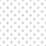 Hand-drawn polka dot seamless pattern. Light gray color. Simple and nice Stock Photo