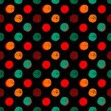 Hand Drawn Polka Dots Seamless Texture Stock Image