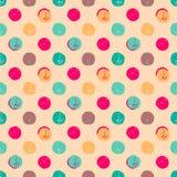 Hand Drawn Polka Dots Seamless Texture Stock Photo