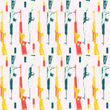 Hand drawn pop art pattern with colorfull Royalty Free Stock Photos