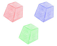 Hand drawn prisms Stock Photo
